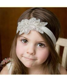 Pikaboo Beaded Headband - White