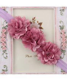 Pikaboo Headband Floral Applique - Purple