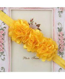 Pikaboo Headband Floral Applique - Yellow