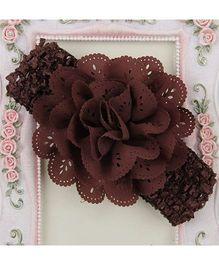 Pikaboo Headband Floral Applique - Brown