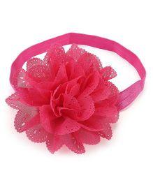 Pikaboo Headband Floral Applique - Pink