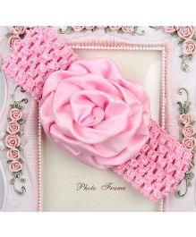Pikaboo Headband Floral Applique - Light Pink