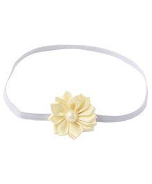 Pikaboo Headband Floral Applique - Cream
