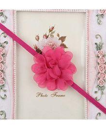 Pikaboo Headband Floral Applique - Dark Pink