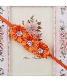 Pikaboo Headband Floral Applique - Orange