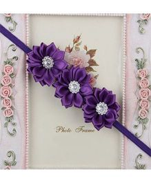 Pikaboo Headband Floral Applique - Violet