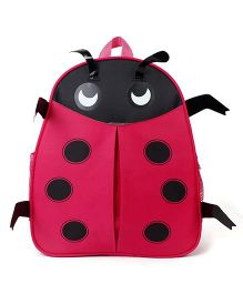 Beetle Shaped School Backpack Red - 13 Inches