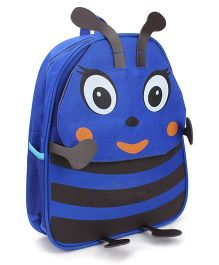 Honey Bee Designed School Bag Blue - 13 Inches