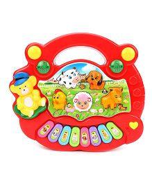 Playmate Animal Farm Mini Piano - Red