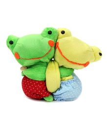 Curtain Holder Frog Soft Toy - Green Yellow