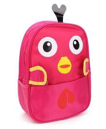 Bird Face Print School Backpack - Pink
