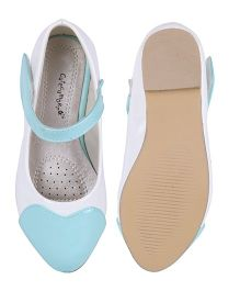 Cutecumber Party Wear Belly Shoes - Light Blue