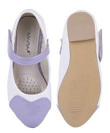 Cutecumber Party Wear Belly Shoes - Purple