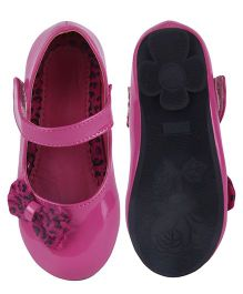 Cutecumber Party Wear Belly Shoes Bow Applique - Pink