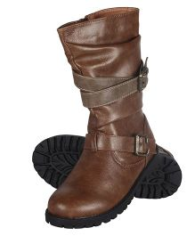 Cutecumber High Ankle Length Partywear Boots - Brown