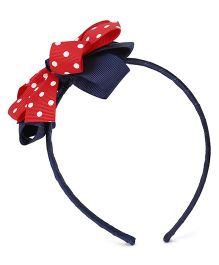 Angel Closet Hair Band - Navy Red