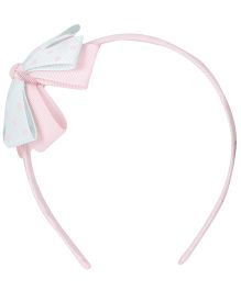 Angel Closet-Hair Bands Aqua Blue & Pink