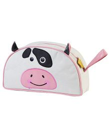 My Gift Booth Vanity Bag Cow Print - Cream And Pink