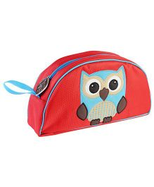My Gift Booth Vanity Bag Owl Embroidery - Red