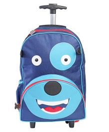 My GIft Booth Travel Trolley Bag Doggy Print - Blue