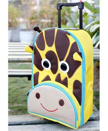 My Gift Booth Travel Trolley Bag Giraffe Print - Yellow And Brown