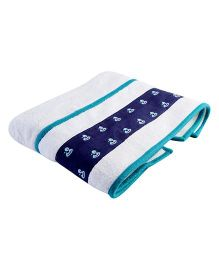 My Gift Booth Bath Towel Doggy Print - White And Blue