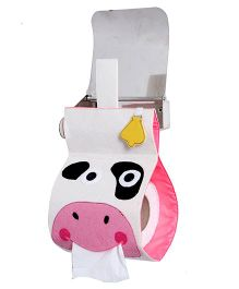 My Gift Booth Tissue Roll Dispenser Cow Design - Cream And Pink
