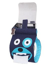 My Gift Booth Tissue Roll Dispenser Doggy Design - Blue