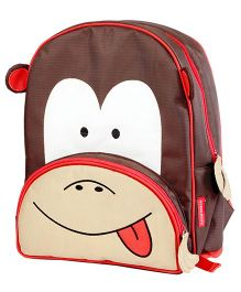My Gift Booth School Bag Monkey Print - Brown