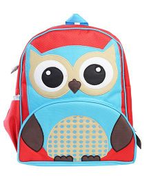 My Gift Booth School Bag Owl Print - Red
