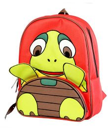 My Gift Booth School Bag Turtle Print - Red