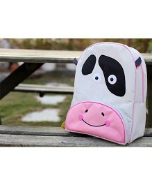 My Gift Booth School Bag Cow Print - White And Pink