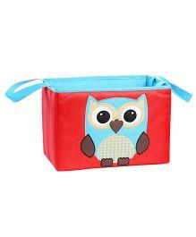 My Gift Booth Owl Print Pram Organiser - Red