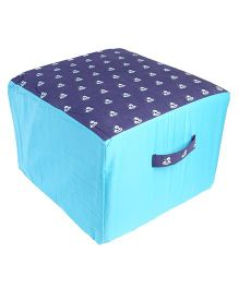 My Gift Booth Doggy Print Pouffe - Blue