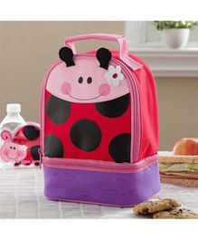 My Gift Booth Lady Bug Print Insulated Lunch Bag - Pink and Mauve