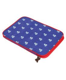 My Gift Booth Dog Print Document Organiser - Blue