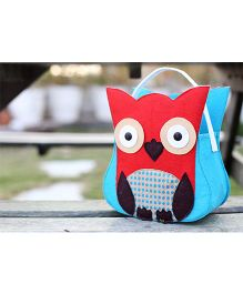 My Gift Booth Owl Design Candy Bag  Red - Set Of 2