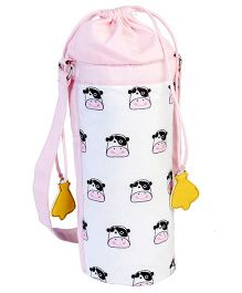 My Gift Booth Cow Print Bottle Cover -  White And Pink