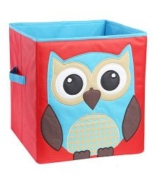 My Gift Booth Owl Design Storage Box - Red