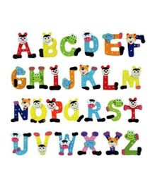 Kuhu Creation Fridge Cartoon Magnet Wooden Stickers Alphabets
