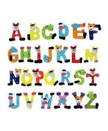 Kuhu Creation Fridge Cartoon Magnet Wooden Stickers Alphabets