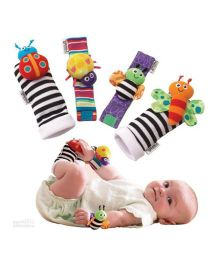 Kuhu Creation Baby Rattle Toys Garden Bug Wrist Rattle