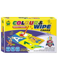 Apple Fun Color And Wipe Alphabets And Numbers Senior