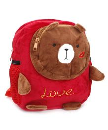 Bear Design Soft Bag - Red & Brown