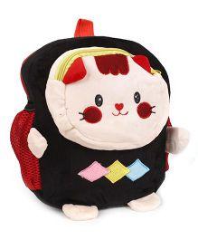 Doll Face Applique Soft Toy Bag - Black
