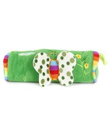 Pencil Pouch Butterfly Applique - Green