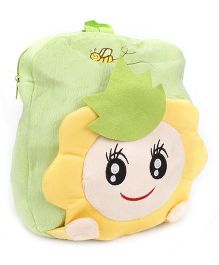 Cartoon Applique Soft Toy Bag - Green