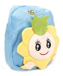 Cartoon Applique Soft Toy Bag - Blue