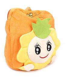 Cartoon Applique Soft Toy Bag - Orange