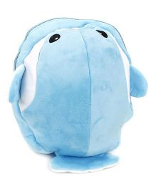 Fish Shaped Soft Toy Bag - Blue